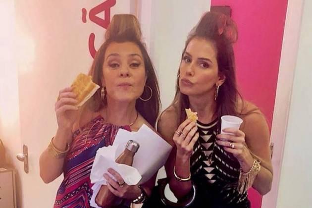 Adriana Esteves e Deborah Secco/Instagram