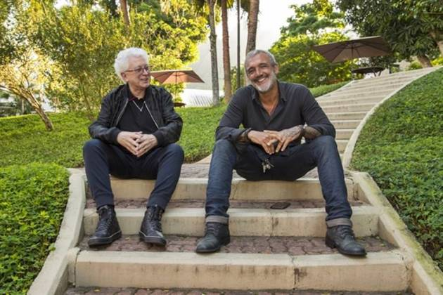 Aguinaldo Silva e Rogério Gomes ( Globo/Estevam Avellar)