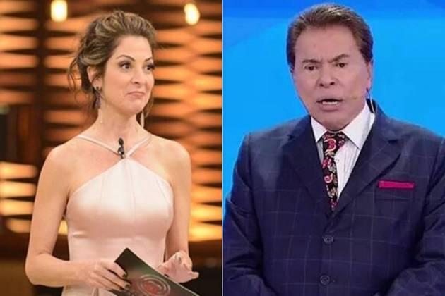 Ana Paula Padrão e Silvio Santos (Reprodução/Band/SBT)