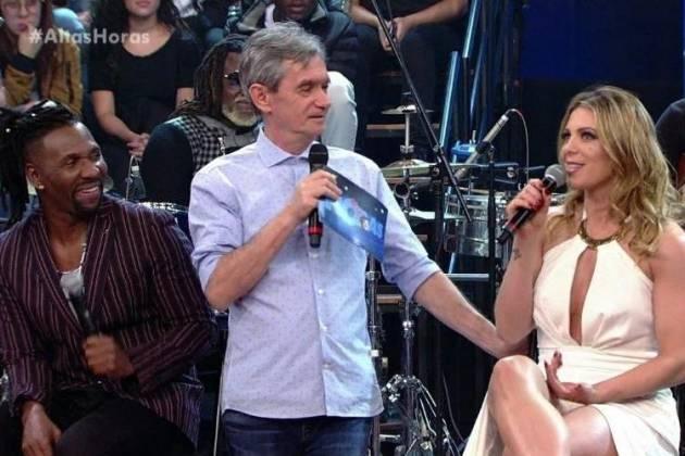 Beto Jamaica, Serginho Groisman e Sheila Mello - Reprodução/TV Globo