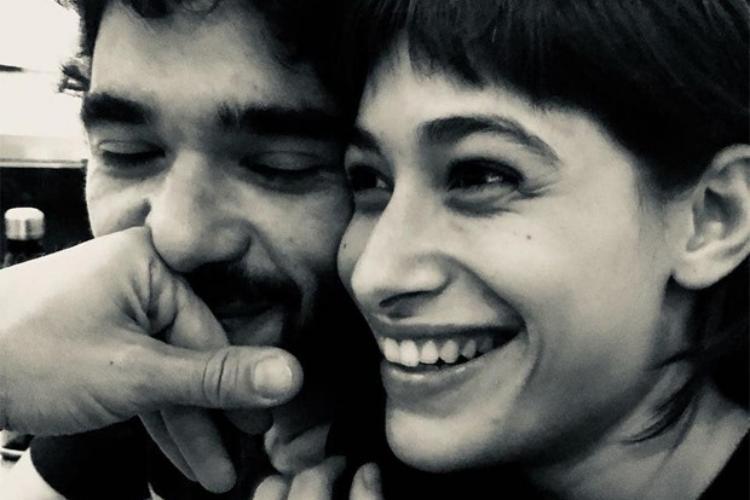 Caio Blat publica foto rara ao lado da namorada, Luisa Arraes