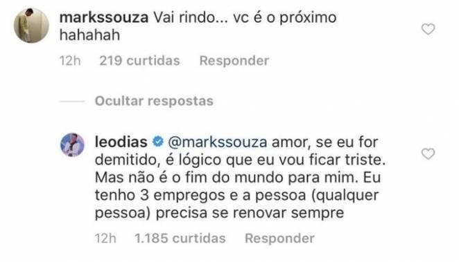 Comentário Leo Dias/Instagram