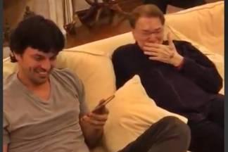 Fabio Faria e Silvio Santos/Instagram