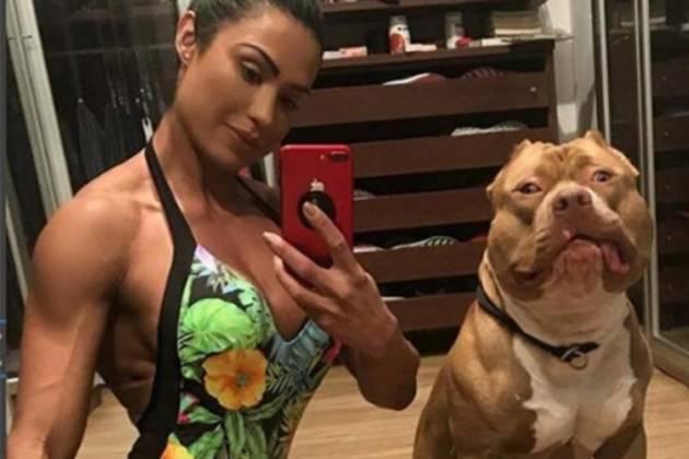 Gracyanne Barbosa e o cachorro Thor - Reprodução/Instagram