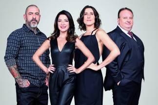 Henrique Fogaça, Ana Paula Padrão, Paola Carosella e Erick Jacquin (Divulgação/Band)