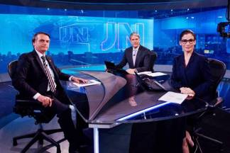 Jair Bolsonaro no JN ( Globo/João Cotta)