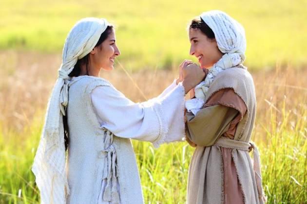 Jesus - Maria diz a Miriam que está grávida (Munir Chatack/RecordTV)
