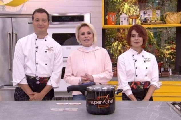 Ana Maria Braga com Rafael Cortez e Françoise Forton (Reprodução/TV Globo)