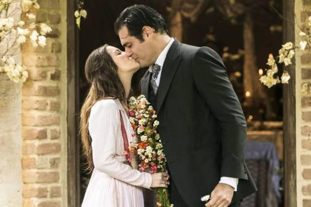 Orgulho e Paixão - Elisabeta e Darcy se casam (Globo/João Miguel Júnior)