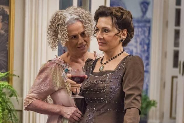 Orgulho e Paixão - Ofélia enfrenta Lady Margareth (Globo/Paulo Belote)
