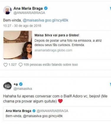 Publicação Ana Maria Braga - Reprodução/Twitter