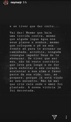 Stories Neymar/Instagram