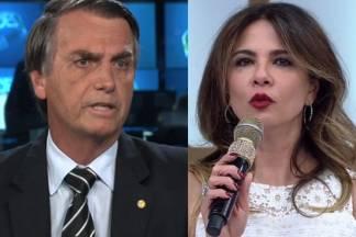 Jair Bolsonaro - Luciana Gimenez ( Reprodução/TV Globo/RedeTV)