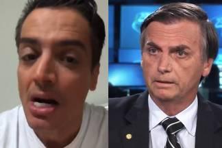 Leo Dias e Jair Bolsonaro - Reprodução/Instagram/Globo
