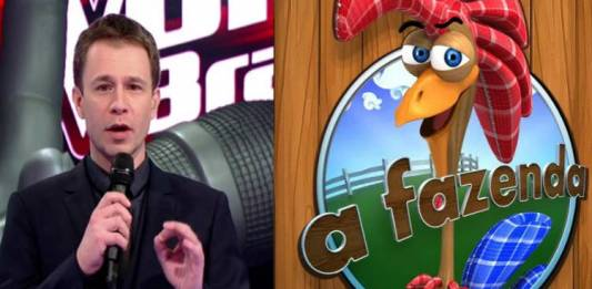 The Voice e A Fazenda/Reprodução Globo e Record