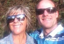 Vitor Morosini com a mãe/Facebook