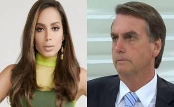 Anitta e Jair Bolsonaro - Montagem/Área VIP
