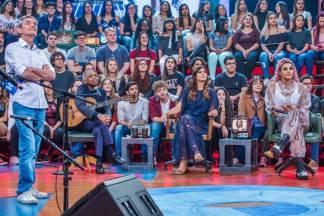 Altas Horas - Serginho Groisman, Gilberto Gil, Andréia Sadi e Pabllo Vittar (Globo/Fábio Rocha)