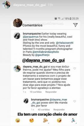 Seguidora recebe resposta de Bruna Marquezine/Instagram