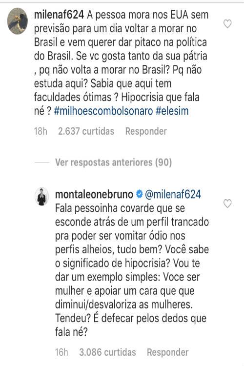Bruno Montaleone defende Sasha no Instagram/Instagram