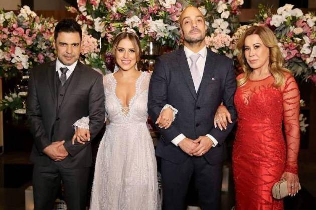 Camilla Carmargo com o marido e os pais - Instagram/Foto:agenciabrazilnews