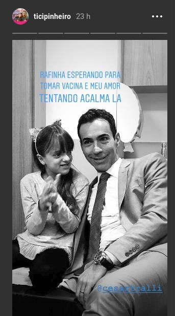 Cesar Tralli e Rafinha Justus/Instagram