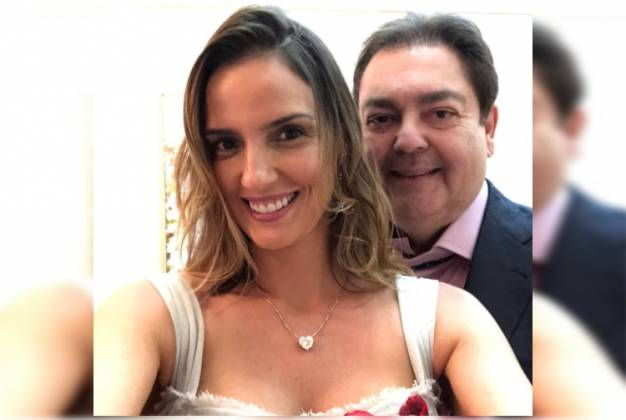 Fausto Silva e esposa/ Instagram