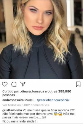 Comentário de Gusttavo Lima/Instagram
