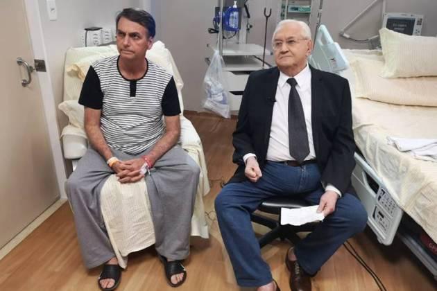 Jair Bolsonaro e Boris Casoy (Divulgação/RedeTV!)