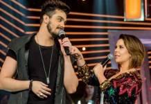Luan Santana e Fernanda Souza no SóTocaTop (Divulgação/ TV Globo)