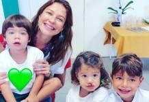 Luana Piovani com os filhos/Instagram