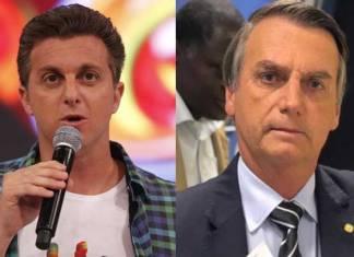 Luciano Huck e Jair Bolsonaro - Reprodução: Rede Globo/Instagram
