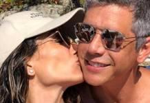 Marcio Garcia com a esposa/Instagram