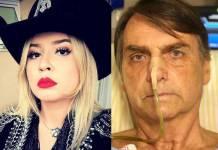 Marília Mendonça e Jair Bolsonaro - Reprodução/Instagram