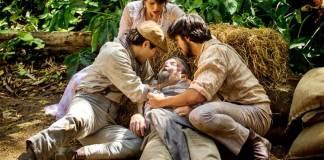 Orgulho e Paixão - Gaetano morre nos braços dos filhos (Reprodução/Fabiano Battaglin/Gshow)