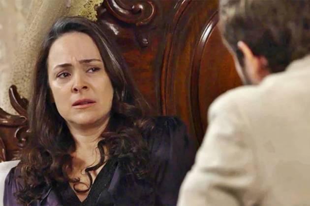 Orgulho e Paixão - Julieta com o filho (Reprodução/TV Globo)