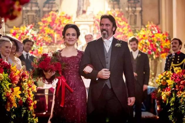 Orgulho e Paixão - Julieta e Aurélio se casam (Reprodução/Fabiano Battaglin/Gshow)