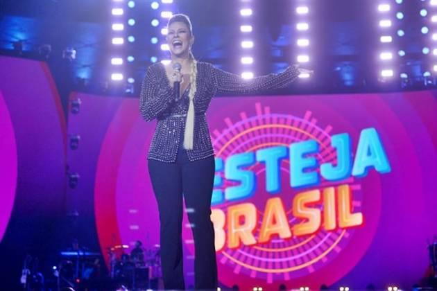 Paolla Oliveira apresenta o Festeja Brasil (Globo/ Nélio Rodrigues)