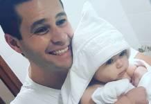 Pedro Leonardo com a filha/Instagram