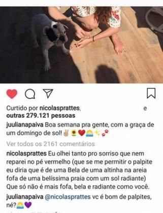 Post - Juliana Paiva/Instagram