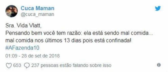 Publicação Rudimar de Maman - Reprodução/Twitter