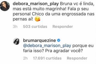 Resposta de Bruna Marquezine/Instagram