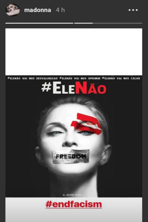Madonna adere à campanha #EleNão/Instagram