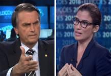 Jair Bolsonaro e Renata Vasconcellos - Reprodução/Globo