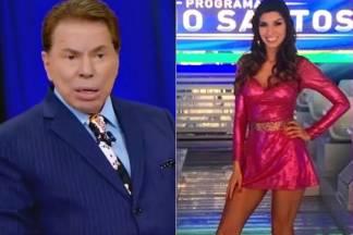 Silvio Santos expulsa Bailarina - fotomontagem/Área VIP