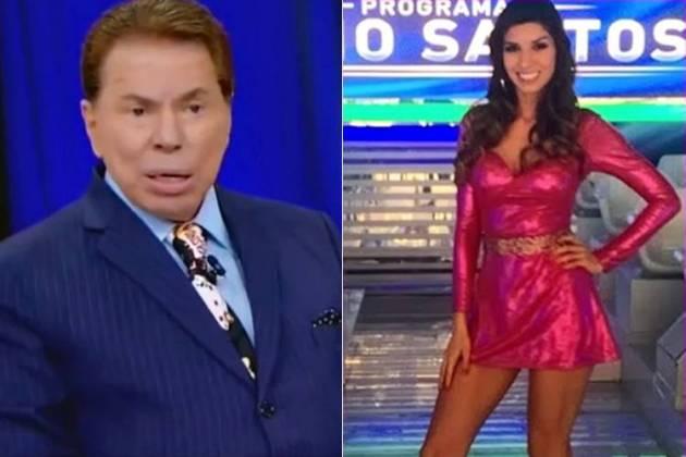 Silvio Santos e uma de suas bailarinas - fotomontagem/Área VIP