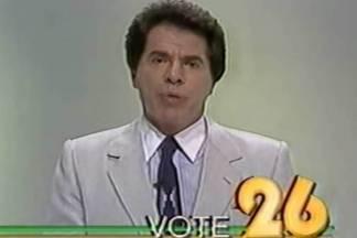 Silvio Santos candidato a presidente em 1989/Reprodução: internet