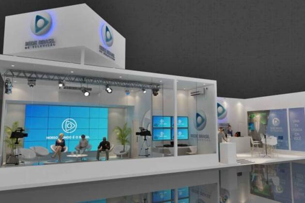 Stand da Rede Brasil na Expo Cristã/Divulgação
