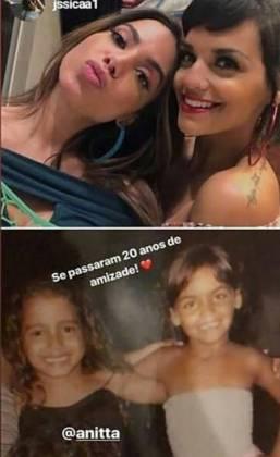 Anitta e a amiga - Reprodução/Instagram
