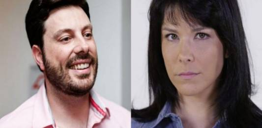 Danilo Gentili e Samara Felippo - Montagem Área VIP